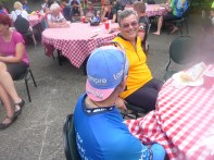 Jump ahead to the Post-Ride Party in Vancouver. Here Timothy massages Paula's feet beneath the privacy of the tablecloth.