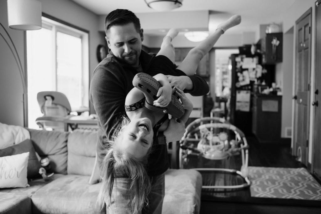 Dad & daughter playing