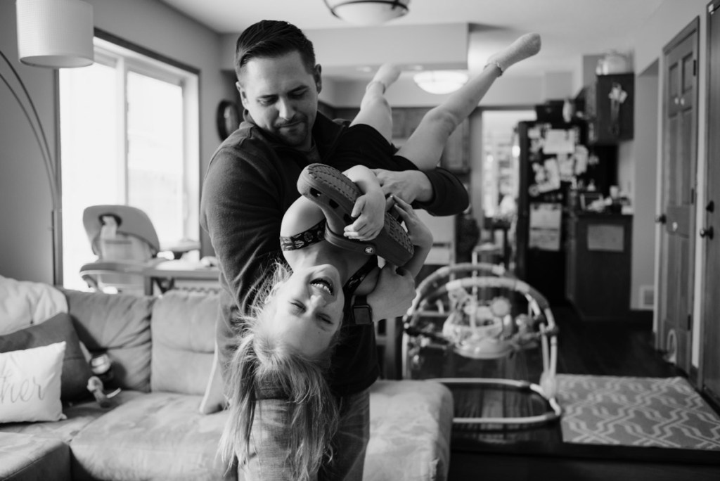Dad & daughter playing