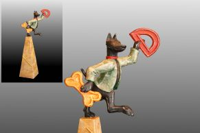 Thomas Rude - D is for Dog, Wood Sculpture