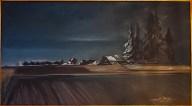 Shield, Jan-Encroachment Looking Toward the Portland Glow, Oil on cotton canvas