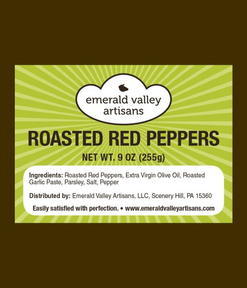 Red Roasted Peppers Label