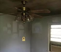smoke damaged room