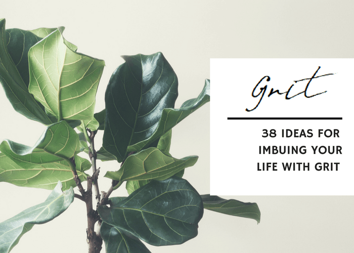 38 IDEAS FOR IMBUING YOUR LIFE WITH GRIT