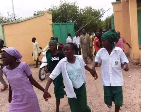 Students of FGC Yauri, Kebbi State after attacks by Bandits