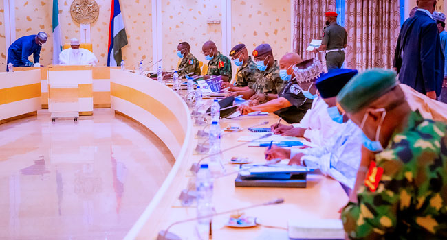 Buhari-security chiefs