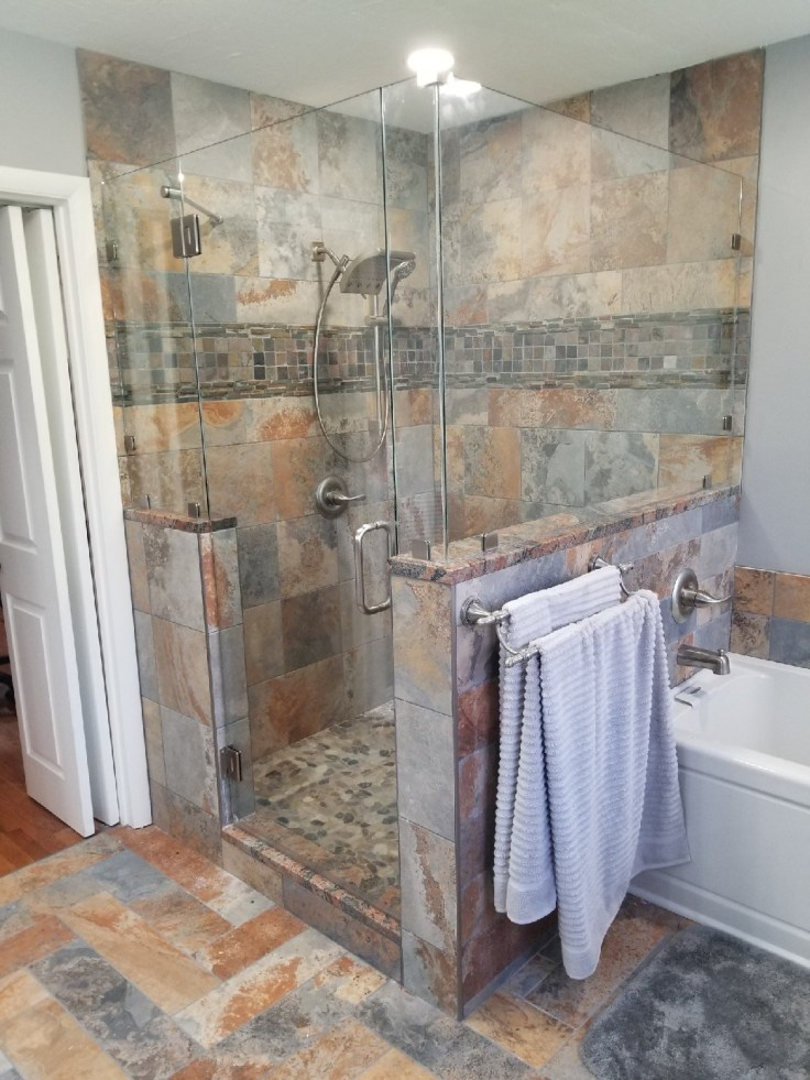 Complete your shower with professional shower glass.