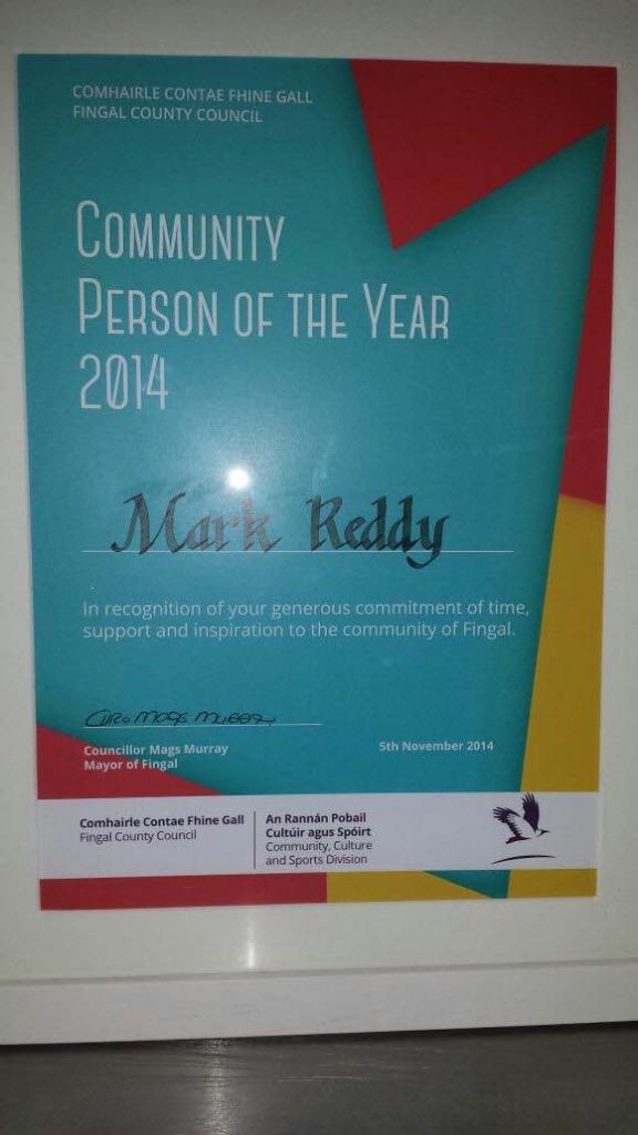 mark reddy award