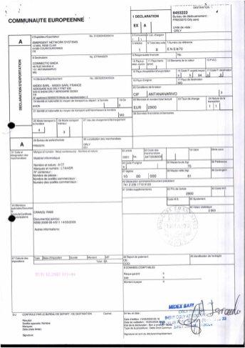Envoi d'EMERGENT à CONNECTIC dossier douanes françaises EX1 2009_Page5