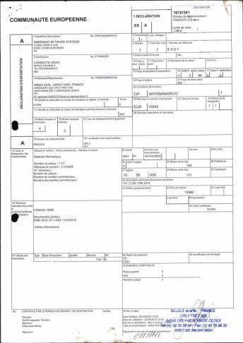Envoi d'EMERGENT à CONNECTIC dossier douanes françaises EX1 2010_Page26