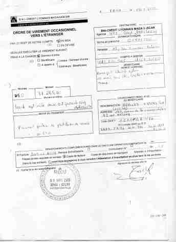 Virement 2009 signé par RANARISON Tsilavo 1-min