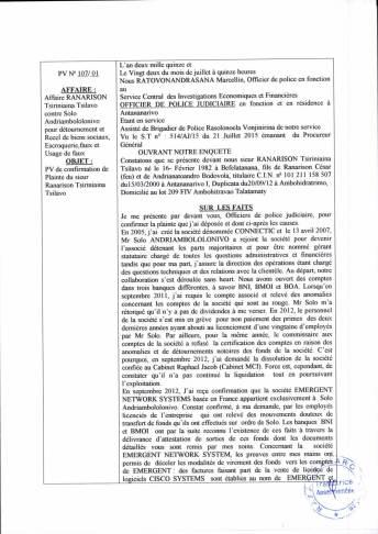 traduction RANARISON Tsilavo enquête police_du 22 juillet 2015 Page_1