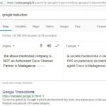 RANARISON Tsilavo NEXTHOPE CISCO traduction sur google traduction
