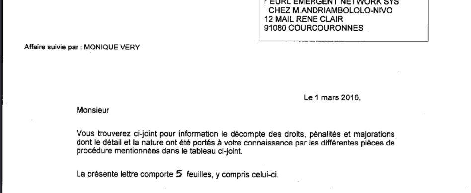 Aucun redressement fiscal en France pour EMERGENT NETWORK lors du contrôle fiscal du mois de mars 2013