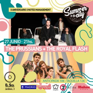 SUMMER IN THE CITY: THE ROYAL FLASH + THE PRUSSIANS @ Sala El Sol