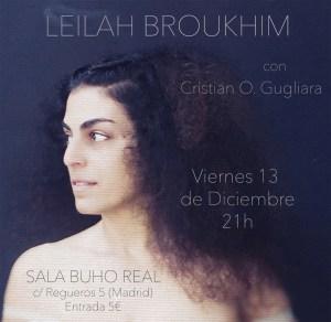 LEILAH BROUKHIM @ Sala Búho Real
