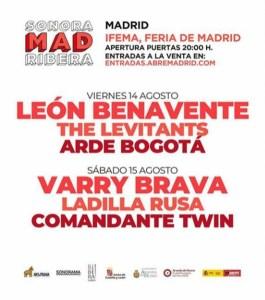 LEÓN BENAVENTE+THE LEVITANTS+ARDE BOGOTÁ (SONORAMAMAD) @ Escenario 1-IFEMA