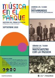 DESVARIADOS (MÚSICA EN EL PARQUE) @ Auditorio al aire libre. Parque Aluche