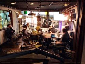 KWVE studio - Whitewashing the Whosoevers 11.22.14