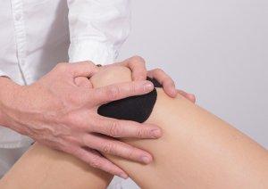 knee, taping, massage