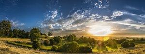 panorama, rural, landscape