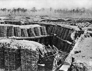Union siege line at Petersburg.