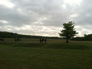 The Federal gun line at Fairview, the morning of May 3rd, 2013. (KDW)