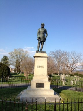 "Confederate General Thomas ""Stonewall"" Jackson's grave site"