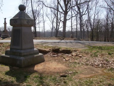 Looking out from behind the 1st Maryland Monument CSA in the direction Steuart's Brigade would attack