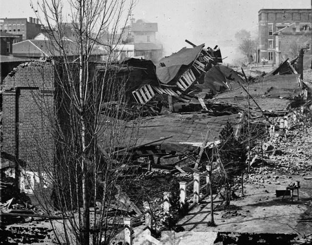 Ruins of Atlanta, in 1864.