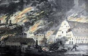 Burning of Gosport Naval Yard, 1861