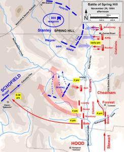 Battle of Spring Hill, Afternoon Nov. 29, 1864. Map created by Hal Jesperson. www.cwmaps.com