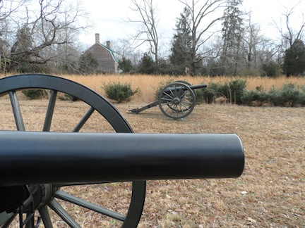 As the Federal army approached Totopotomoy Creek, they set up artillery positions near the Shelton House—once owned by the family of Patrick Henry's wife Sarah.