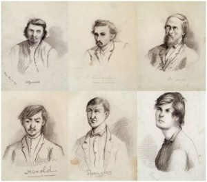 Sketch of the Lincoln Conspirators done by Wallace.