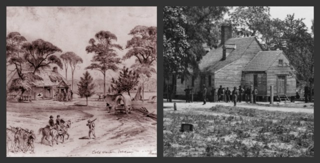 The next objective of Grant--Cold Harbor--was not a convention harbor--but a tavern that was not even fully operational. Yet, the road network the building rested beside (Courtesy of LoC)