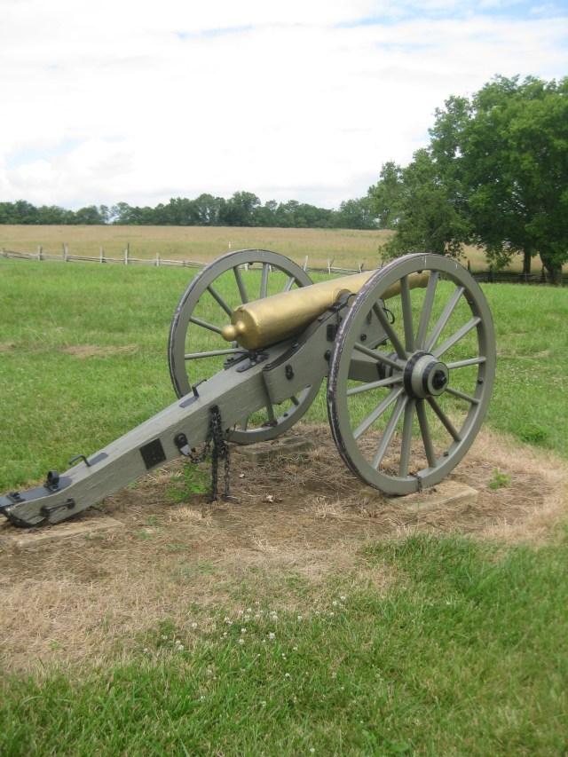 A silent gun at New Market Battlefield (courtesy of Dan Davis)