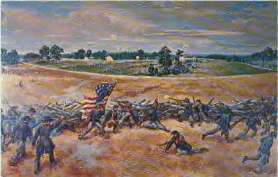 The 123rd New York bore the brunt of the fighting at Kolb Farm