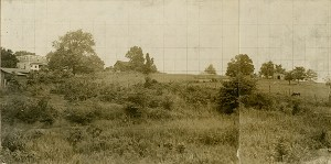 Bald Hill from the southeast; Manning Force's brigade would have looked up this hill on the morning of July 21. Atlanta Journal-Constitution, June 24, 1929.