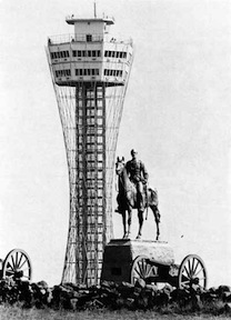 The Gettysburg Tower loomed over even victor George Gordon Meade (photo courtesy NPS)