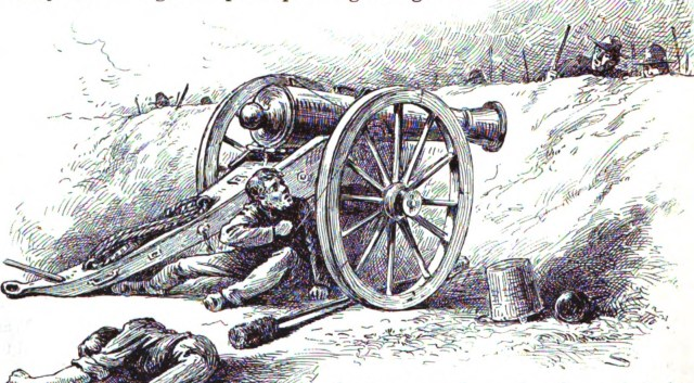 1895 sketch of the Battle of Reams Station
