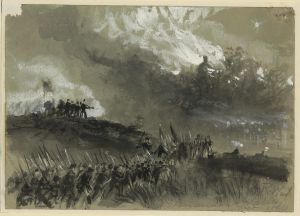 Skirmishing the Shenandoah Valley in the early autumn of 1864. Courtesy of the Library of Congress.