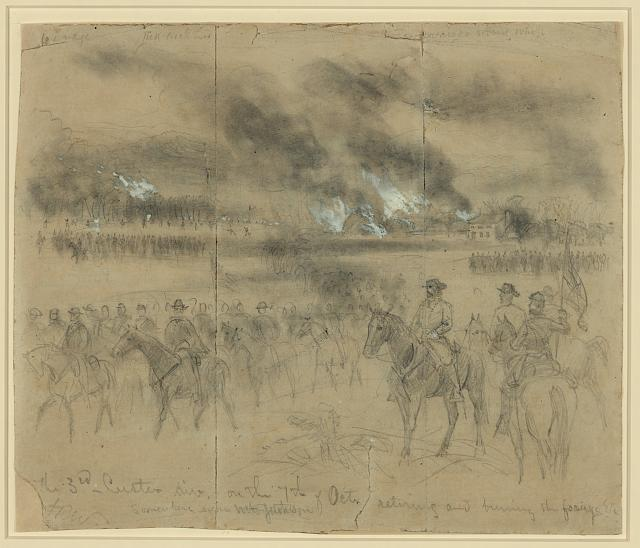 Union cavalry sketched during operations in the Shenandoah Valley (courtesy LOC)
