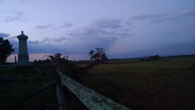 Cemetery Ridge at Gettysburg.