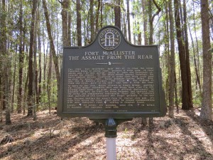 Historical Marker at Ft. McAlister.