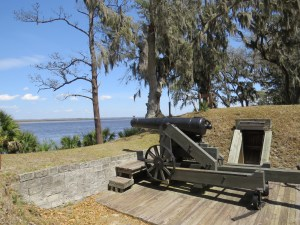 Guns at Ft. McAlister looking out across Ossabaw Sound.