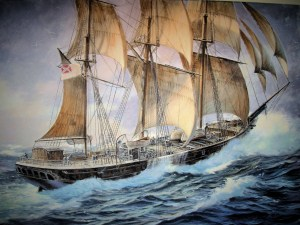 Confederate Raider: CSS Shenandoah. Oil on canvas by Patrick O'Brien. Commissioned by the author.