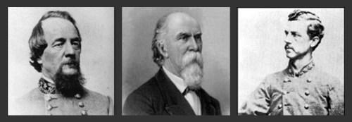L to R, Maj. Gen. Edward Johnson, Brig. Gens. Henry Jackson & Thomas Smith