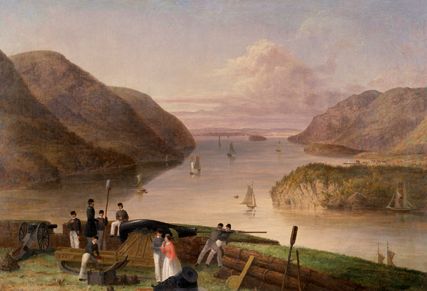 Painting of West Point and the Hudson River by Seth Eastman (1875). This picturesque scene would have greeted cadets in both the Classes of 1842 & 1846