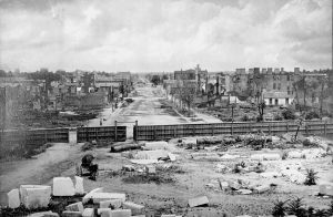 The ruins of Columbia, as viewed from the State building, after February 18th, 1865.