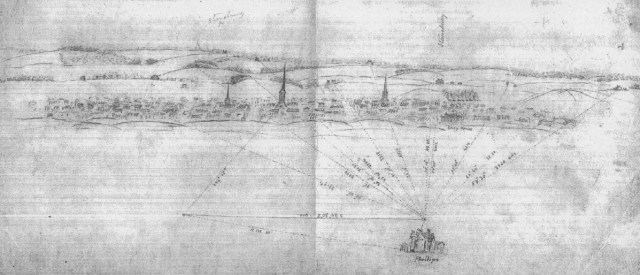 Warren sketch of the City of Fredericksburg, Va. From the New York State Library.